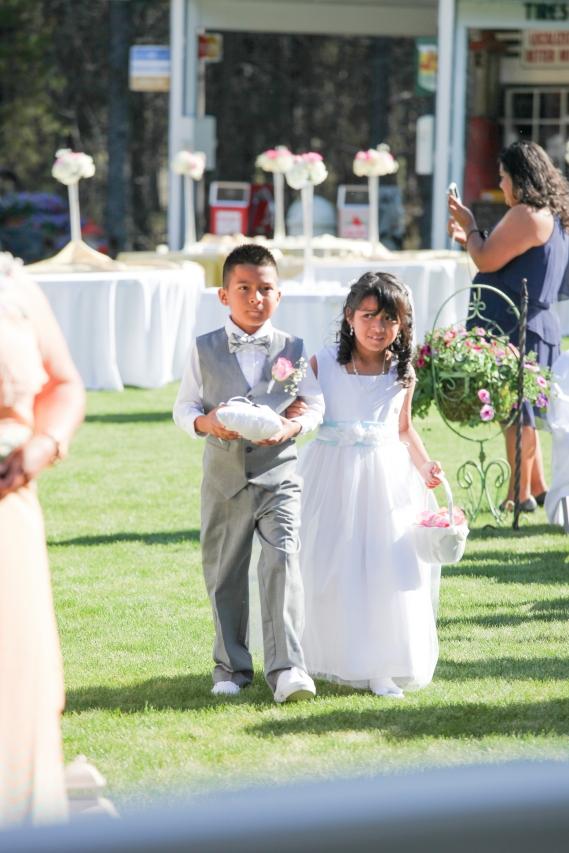 My nephew and niece, AKA ring bearer and flower girl!